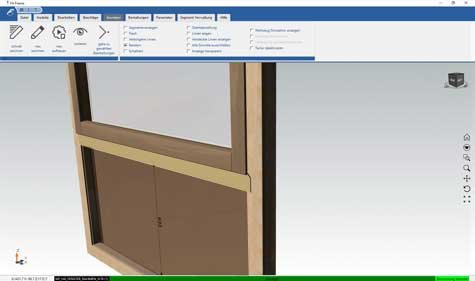 F4 Solution Software F4 Frame Screen window construction Format4 Felder Group  travail du bois